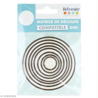 Set de dies imbriqués Artemio petit format - Cercles - 7,4 cm- 8 pcs