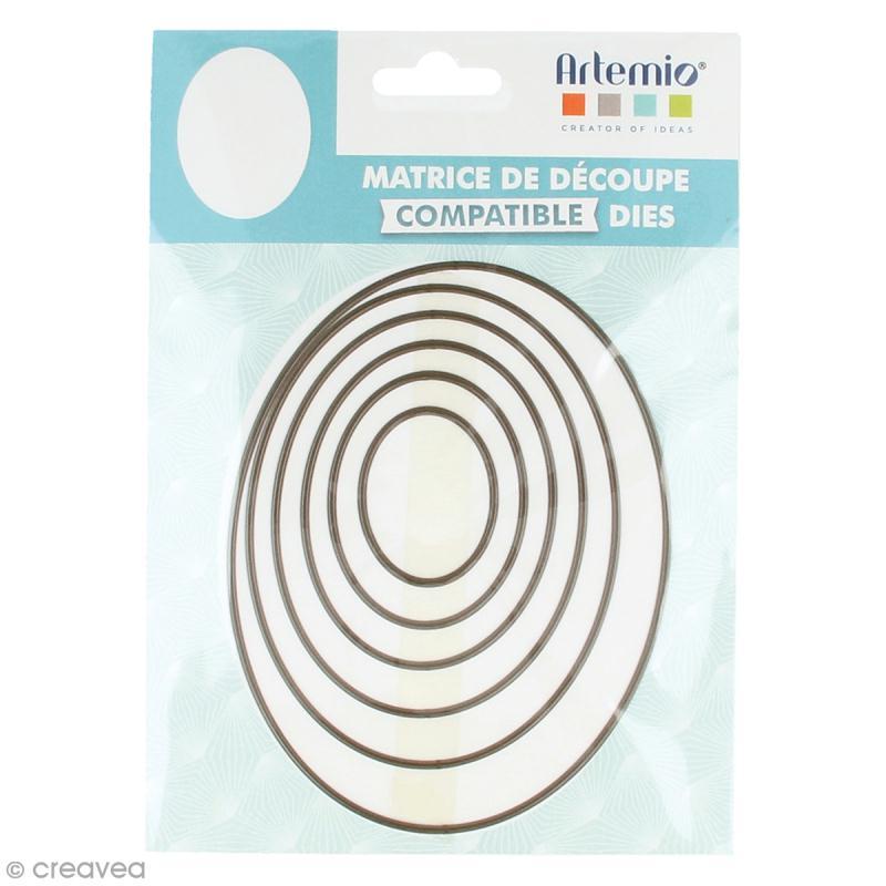 set de dies imbriqu s artemio grand format ovales 13 3 cm 6 pcs matrice de d coupe creavea. Black Bedroom Furniture Sets. Home Design Ideas