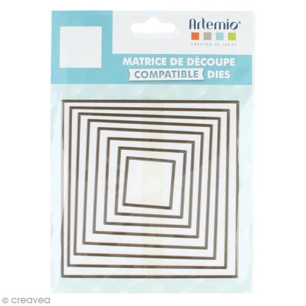 Set de dies imbriqués Artemio grand format - Carrés - 12 cm- 8 pcs - Photo n°1