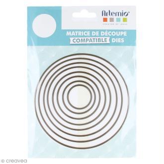 Set de dies imbriqués Artemio grand format - Cercles - 12 cm- 8 pcs