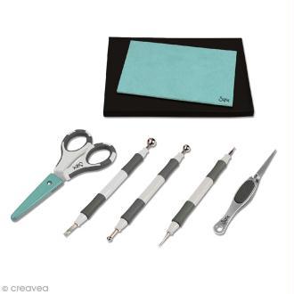 Set outils pour papier Sizzix - 7 pcs