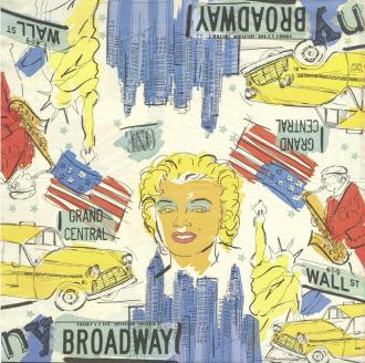4 Serviettes en papier Marilyn Monroe Broadway Format Lunch