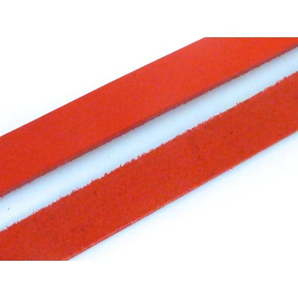 20cm Lanière Cuir Largeur 14,5mm De Couleur Rouge - Cuir Véritable - Epaisseur 1,8mm - Photo n°3
