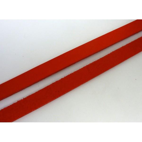 20cm Lanière Cuir Largeur 14,5mm De Couleur Rouge - Cuir Véritable - Epaisseur 1,8mm - Photo n°4