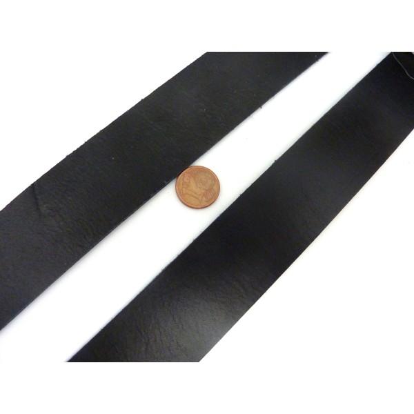 1m Cuir Plat Largeur 29,5mm De Couleur Noir Pour Bracelet Manchette Par Exemple - Photo n°2