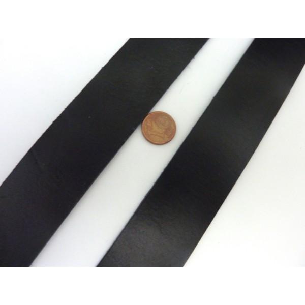 1m Cuir Plat Largeur 29,5mm De Couleur Noir Pour Bracelet Manchette Par Exemple - Photo n°3