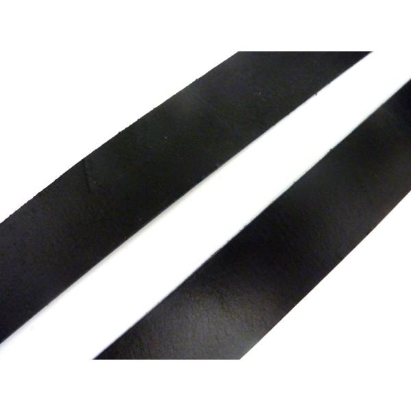 1m Cuir Plat Largeur 29,5mm De Couleur Noir Pour Bracelet Manchette Par Exemple - Photo n°1