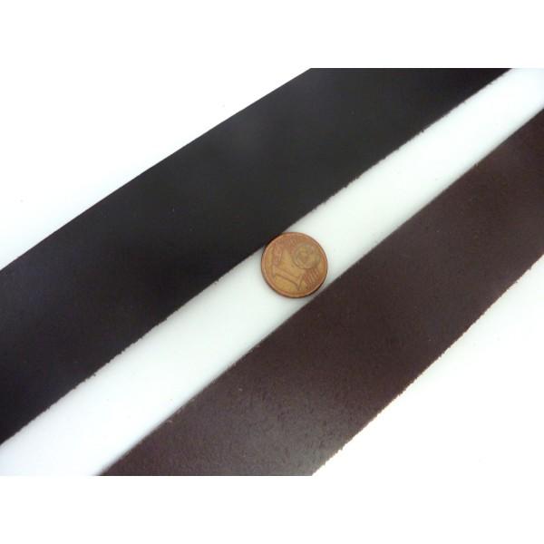 R-20cm Cuir Plat Largeur 29,5mm De Couleur Marron Foncé Pour Bracelet Manchette Par Exemple - Photo n°2