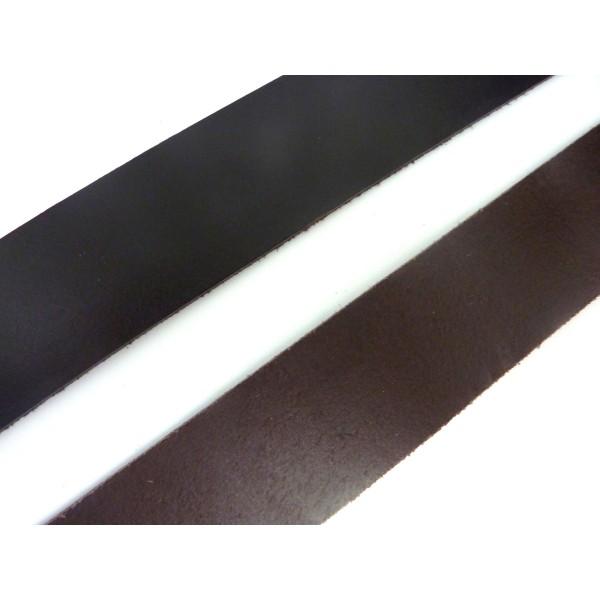 R-20cm Cuir Plat Largeur 29,5mm De Couleur Marron Foncé Pour Bracelet Manchette Par Exemple - Photo n°1