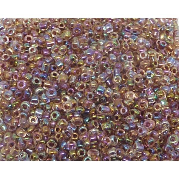 Perles de rocaille  4mm 20g brun clair