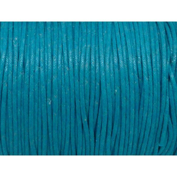 Bleu Lacet rond et épais coton 3,5mm