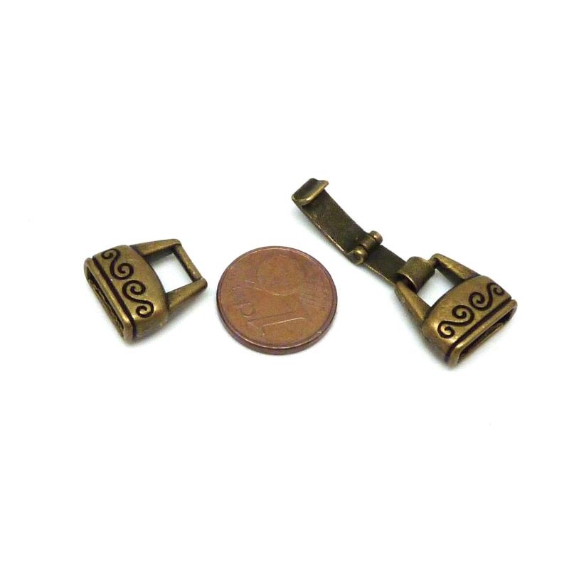 fermoir clip pour lani re cuir de 10mm en m tal ouvrag de