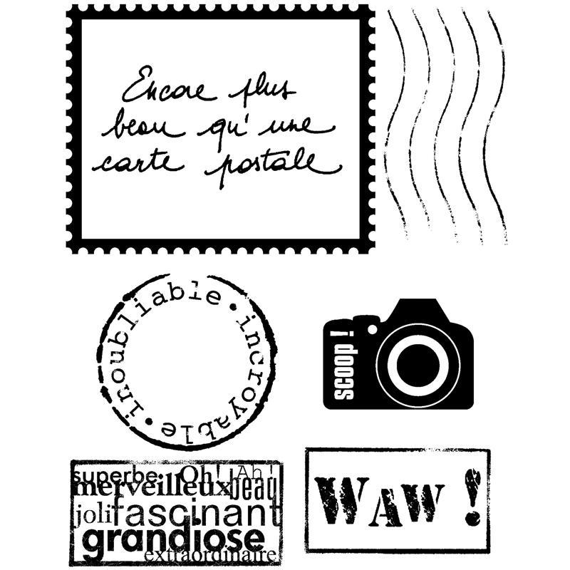 Tampon cristal timbre set de 6 tampons tampon transparent creavea - Exemple d album photo fait main ...