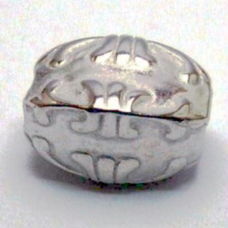 20 Perles CCB (13 X 9 x 8,5 mm ) métallisé couleur platine