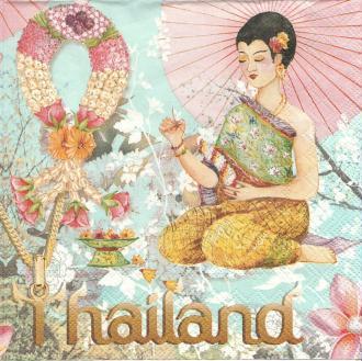 4 Serviettes en papier Thailande Format Lunch