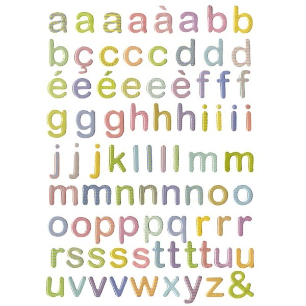 Alphabet à coller en époxy Suisse x 82 - Photo n°1