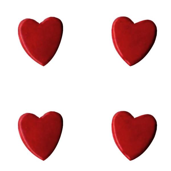 Attaches parisiennes Coeurs rouges x 50 - Photo n°1