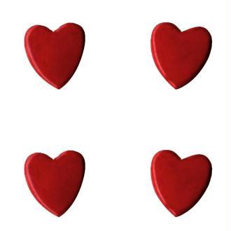 Attaches parisiennes Coeurs rouges x 50