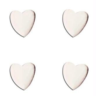 Attaches parisiennes Coeurs blancs x 50
