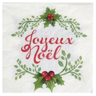Serviettes papier Joyeux Noel