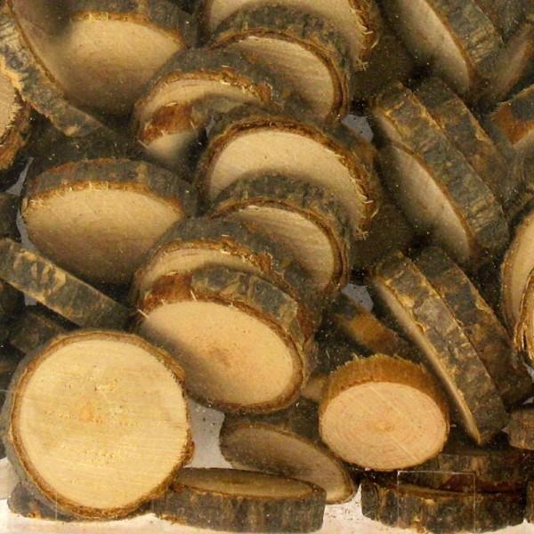 Rondelles de bois décorative - 15 à 30 mm - 180 g - Photo n°1