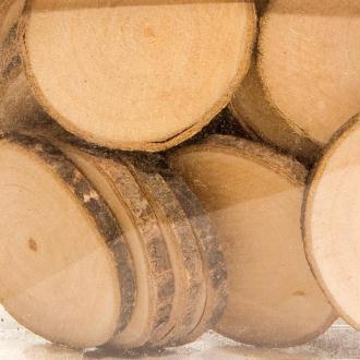 Rondelles de bois 3 à 4,5 cm - 180 grammes