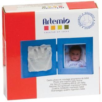 Cadre empreinte bébé et photo - petit kit