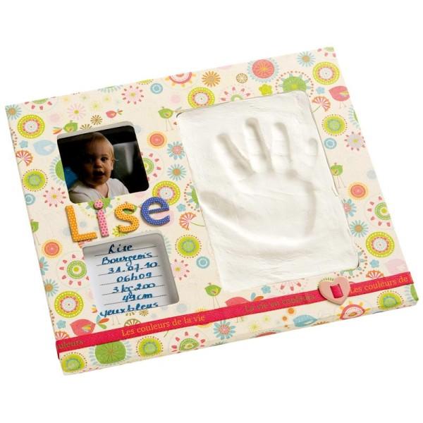 Cadre empreinte bébé et photo - kit moyen - Photo n°2