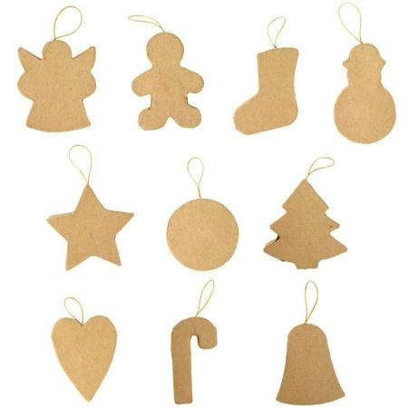 Formes de Noel à suspendre x10 - Photo n°1