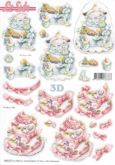 Feuille 3D pré-découpée A4 Naissance
