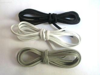 3 X 1M Cordon De Laine Aspect Daim Couleur  Blanc Noir Et Gris