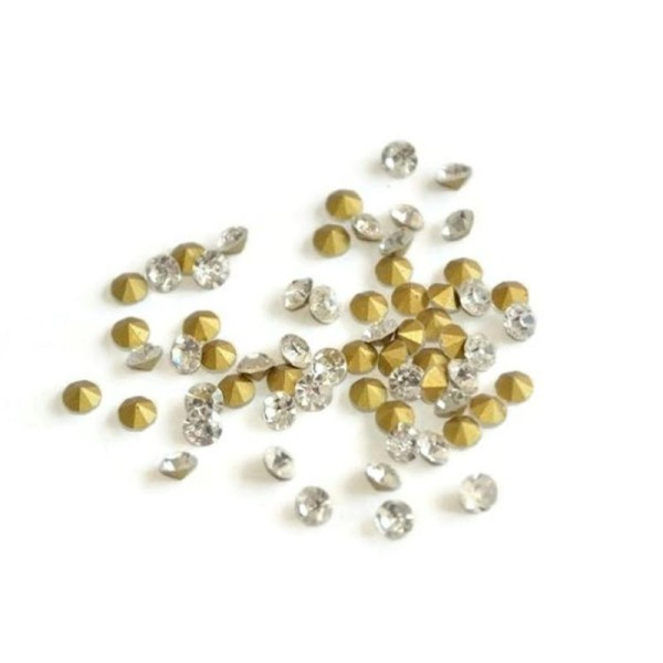 20 Cabochons Strass Cristal  Forme Diamant À Coller Dimension 4X3Mm - Photo n°1