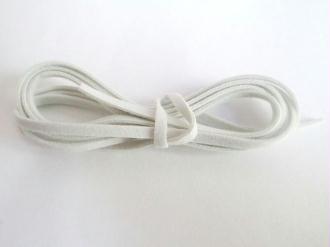 3 X 1M Cordon De Laine Aspect Daim Couleur  Blanc
