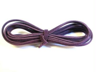 3 X 1M Cordon De Laine Couleur Violet