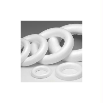 Demi Anneau / couronne polystyrène fond plat, 20 cm