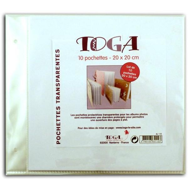 Pochettes plastiques album photo 20 x 20 cm - Lot de 10 - Photo n°1