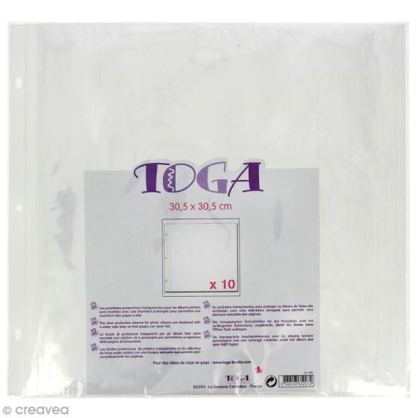 Pochettes plastiques album photo 30,5 x 30,5 cm - Lot de 10 - Photo n°1
