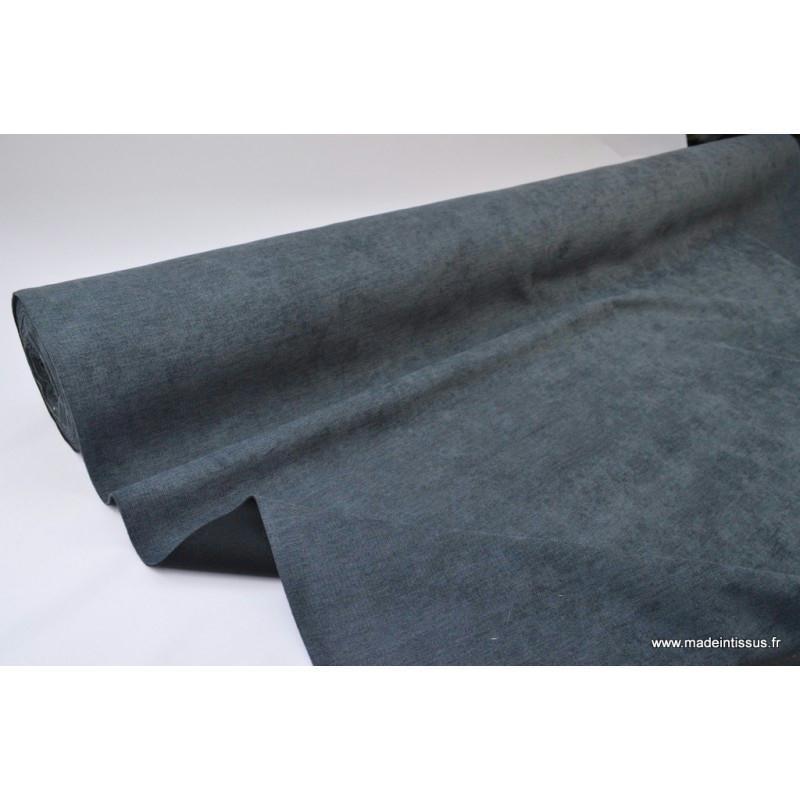 tissu isolant thermique occultant anthracite tissu au m tre creavea. Black Bedroom Furniture Sets. Home Design Ideas