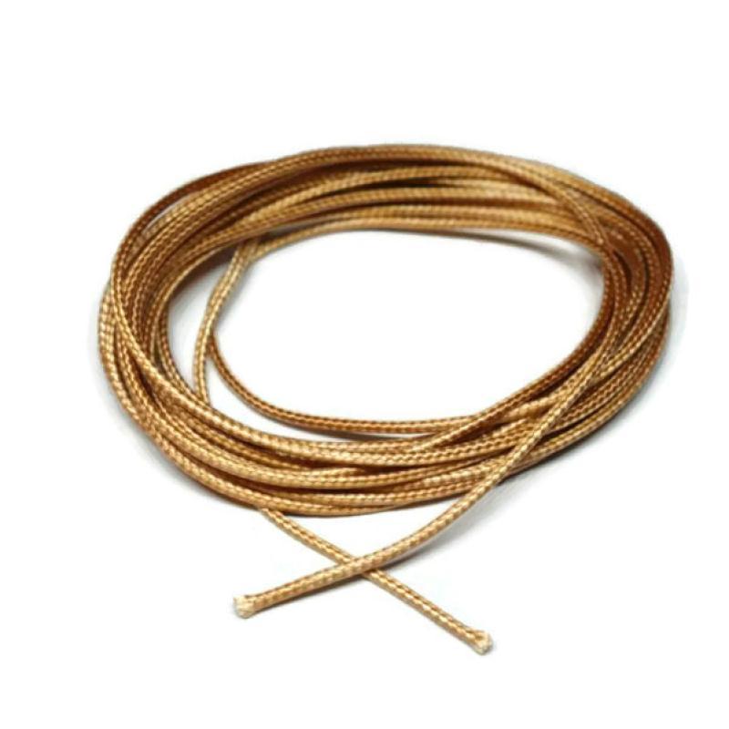 Fil polyester enduit 1 5 mm beige dor aspect cuir for Enduit sur siporex exterieur