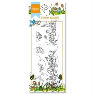 Tampon - Bordure fleurs - Marianne Design - 11 pcs