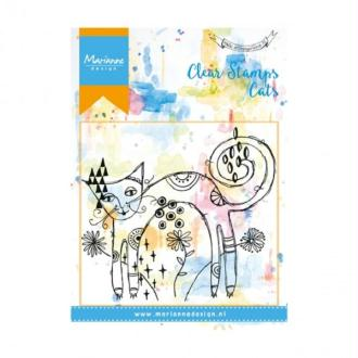 Tampon clear Marianne Design - Chat dos rond