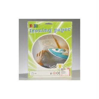 Papier transfert, 16 x 16 cm, lot de 8, pour perles tubulaires à repasser