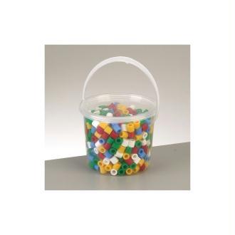 Seau de 500 Maxi Perles tubulaires Ø 10 mm à repasser, couleurs basiques