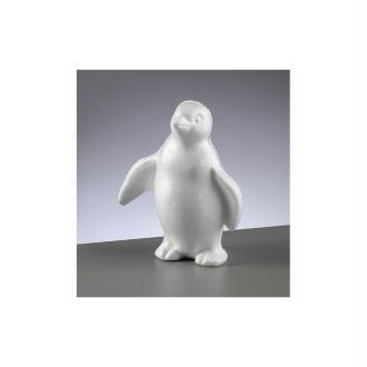 Pingouin en polystyrène blanc de 18 cm de haut, Styropor de densité supérieure