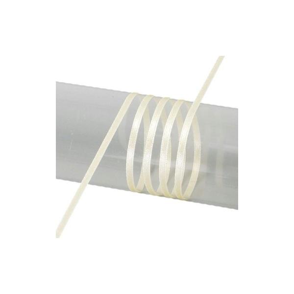 Ruban double face en satin, largeur 6 mm, rouleau de 50 mètres - Photo n°2
