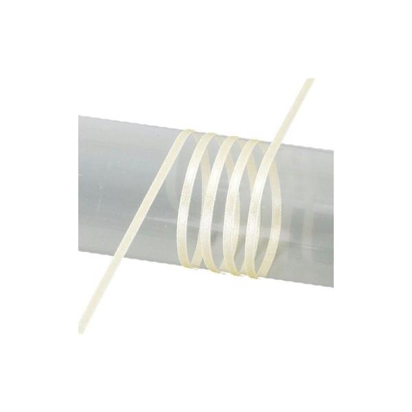 Ruban double face en satin, largeur 6 mm, rouleau de 50 mètres - Photo n°1