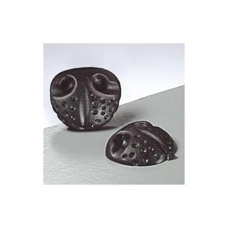 Lot de 4 Nez d'animal à coller, diamètre 14 mm, plastique noir