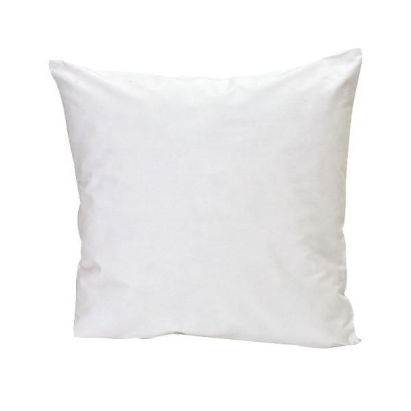 Housse de coussin en coton blanc léger, 40 x 40 cm, Enveloppe en tissu avec fermeture éclair, à cust - Photo n°1