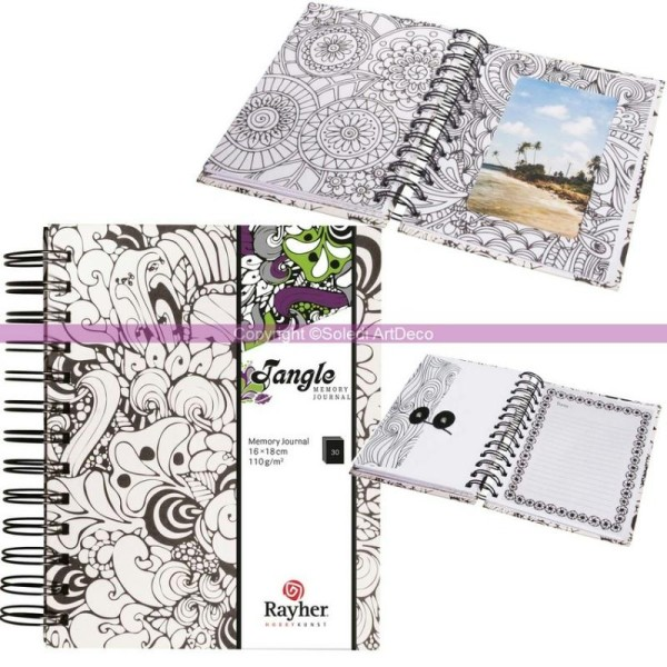Coloriage Adulte Spirale.Carnet Tangle Journal Memory Orchide Coloriage Therapie Anti Stress