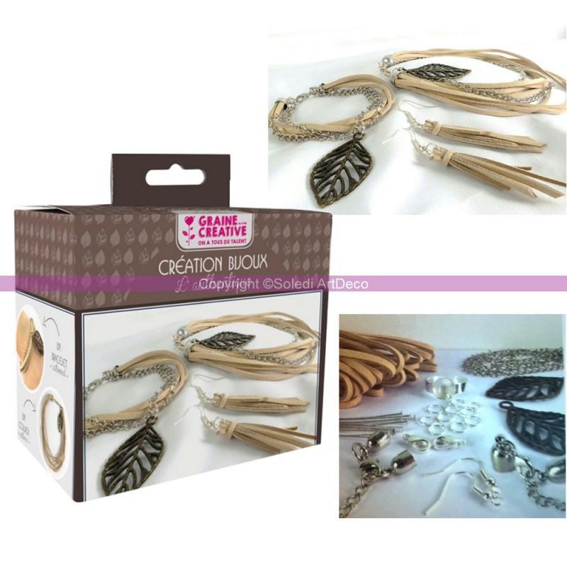 Kit de cr ation bijoux th me feuilles diy bracelet for Graine d interieur